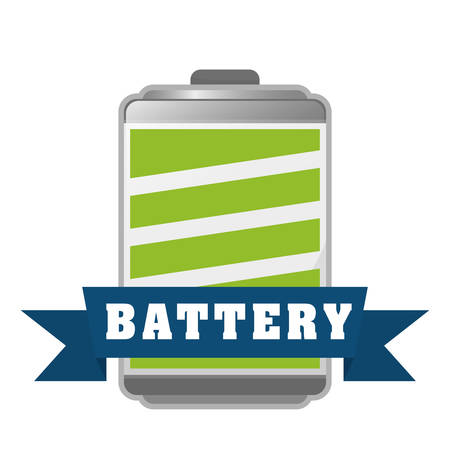 energetics: Battery icons graphic design, vector illustration eps10