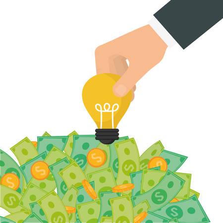 abundance: Money savings graphic design, vector illustration eps10 Illustration
