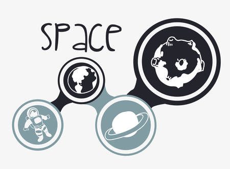 orbital station: Space concept with icons design, vector illustration 10 eps graphic.