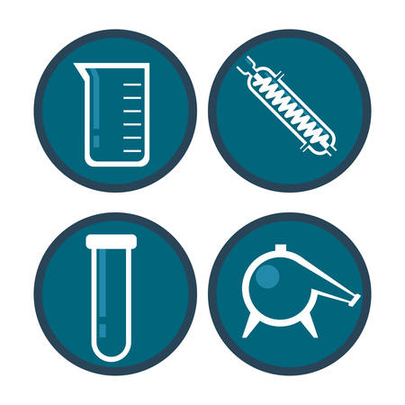 a solution tube: Science concept with chemistry icons design, vector illustration 10 eps graphic.