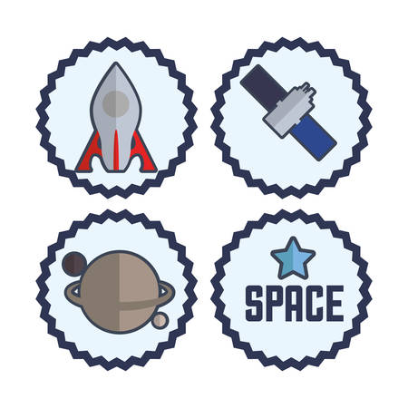 orbital station: Space concept with satellite icon design, vector illustration 10 eps graphic.
