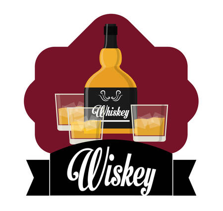 scotch whisky: Alcohol concept with whiskey design, vector illustration 10 eps graphic. Illustration
