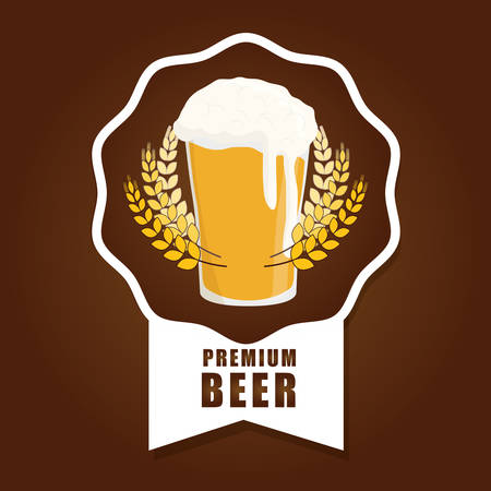 fresh brewed: Beer concept with icons design, vector illustration 10 eps graphic.