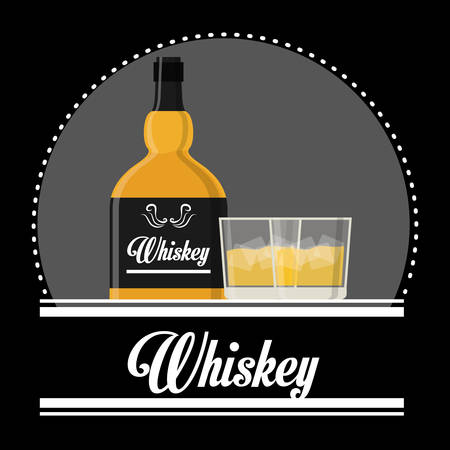 bourbon: Alcohol concept with whiskey design, vector illustration 10 eps graphic. Illustration