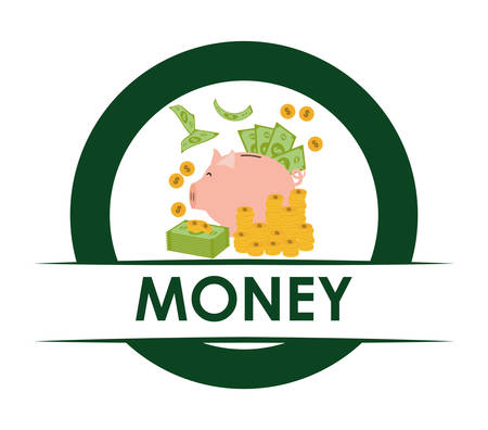 financial item: Financial item concept with money icons design, vector illustration 10 eps graphic.