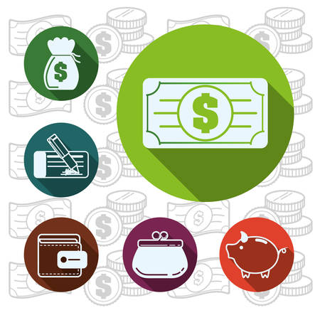 financial item: Financial item concept with money icons design,