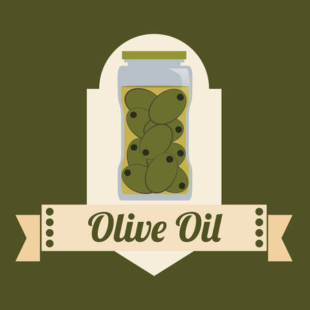 vitamines: Olive Oil concept with organic  icons design, vector illustration 10 eps graphic. Illustration