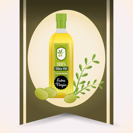 alimentation: Olive Oil concept with organic  icons design, vector illustration 10 eps graphic. Illustration
