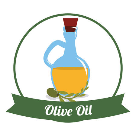 Olive Oil concept with organic icons design, vector illustration 10 eps graphic.