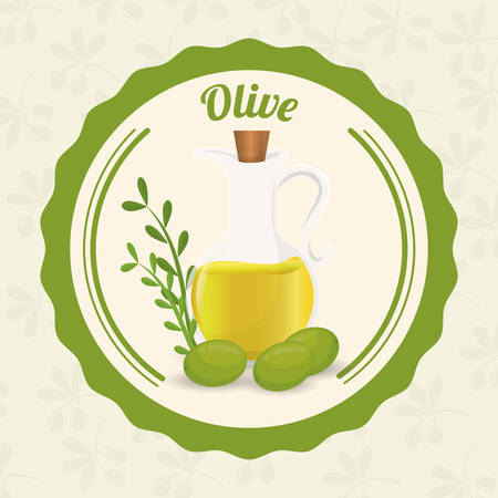 freshness: Olive Oil concept with organic  icons design, vector illustration 10 eps graphic. Illustration
