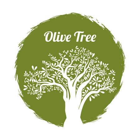 olivo arbol: concepto de aceite de oliva con el diseño de iconos orgánica, ilustración vectorial eps 10 gráfico.
