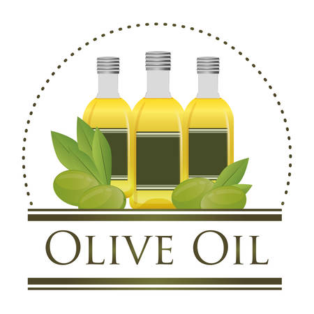 Olive Oil concept with organic icons design