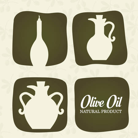 alimentation: Olive Oil concept with organic  icons design, vector illustration