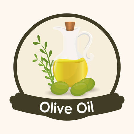vitamines: Olive Oil concept with organic  icons design, vector illustration