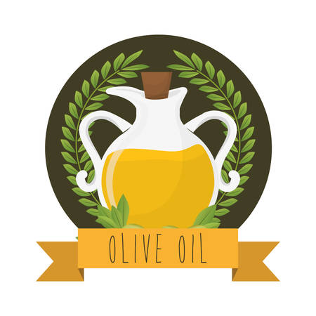 Olive Oil concept with organic icons design, vector illustration