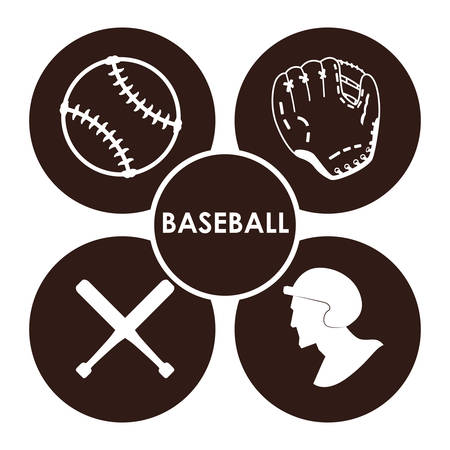 outfield: Sport concept with Baseball  icons design