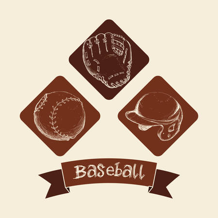 outfield: Sport concept with Baseball  icons design, vector illustration