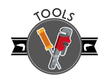 rebuilding: Tool concept with supplies  icons design, vector illustration 10 eps graphic.