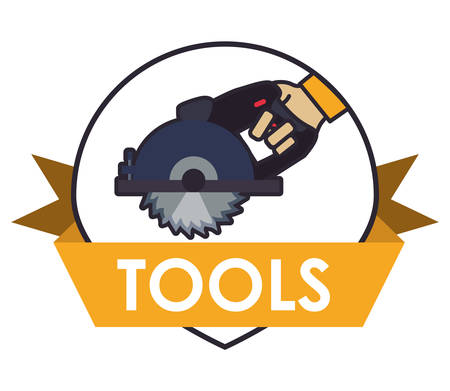 warning saw: Tool concept with supplies  icons design, vector illustration 10 eps graphic.