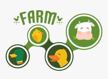 cultivating: Farm concept with icons design, vector illustration 10 eps graphic. Illustration