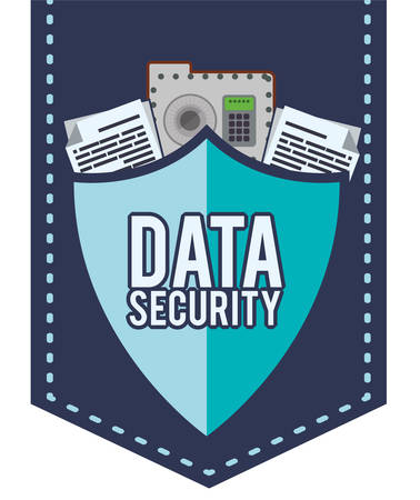 web security: Web Hosting concept with data security icons design, vector illustration 10 eps graphic.