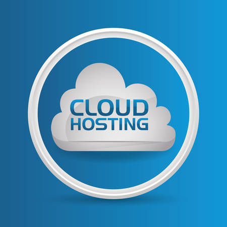 value system: Web Hosting concept with data security icons design, vector illustration 10 eps graphic.