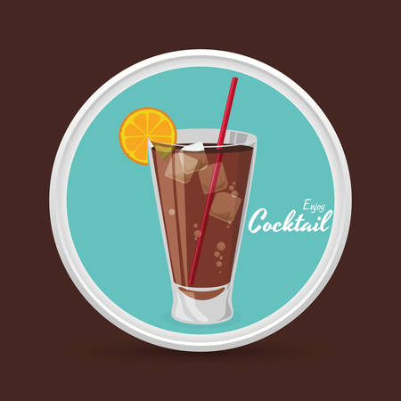 Drinks concept with cocktail  icon design, vector illustration 10 eps graphic.