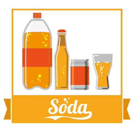 fizz: Drinks concept with soda icon design, vector illustration 10 eps graphic.