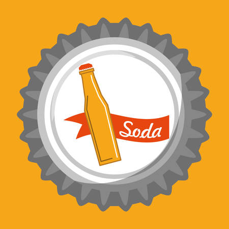 carbonated beverage: Drinks concept with soda icon design, vector illustration 10 eps graphic.