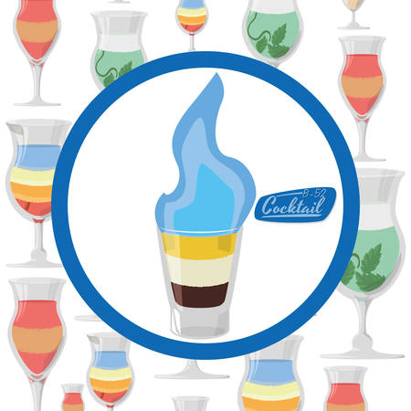 shots alcohol: Drinks concept with cocktail  icon design, vector illustration 10 eps graphic.