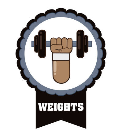 hand lifting weight: Gym concept with fitness icon design, vector illustration 10 eps graphic.