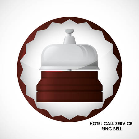 hotel manager: Hotel concept with icons design, vector illustration 10 eps graphic.