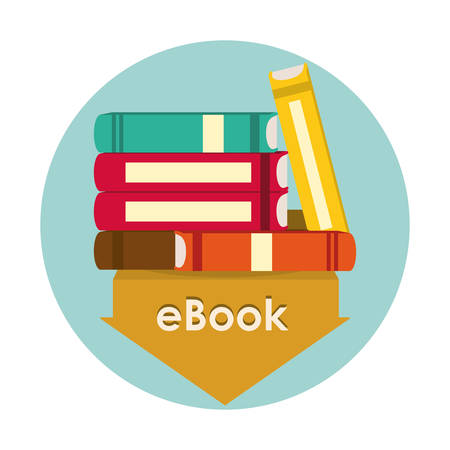 e book reader: eBook concept with icon design, vector illustration 10 eps graphic. Illustration
