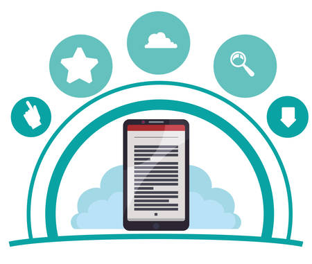 e book reader: eBook concept with icon design, vector illustration 10 eps graphic. Illustration
