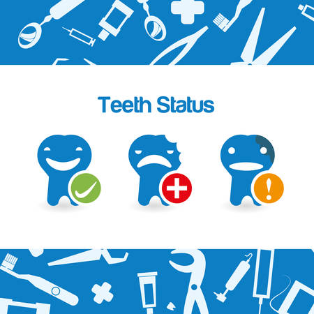 face surgery: dental concept with healthy lifestyle icon design, vector illustration 10 eps graphic.
