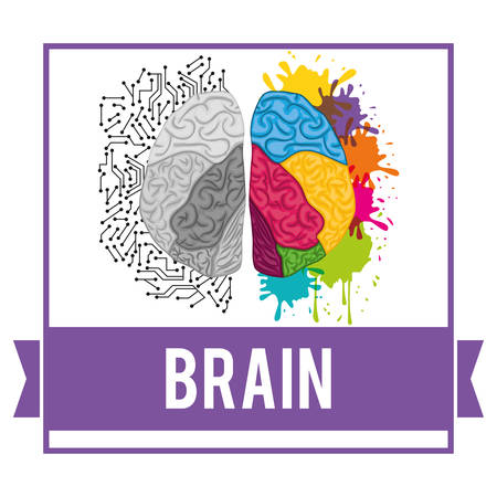 different thinking: Idea concept with brain  icon design, vector illustration 10 eps graphic. Illustration