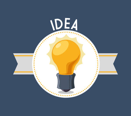 different thinking: Idea concept with light bulb icon design, vector