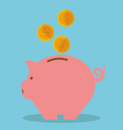 pay: Pay taxes graphic design theme, vector