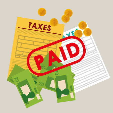 pay: Pay taxes graphic design theme, vector illustration eps10