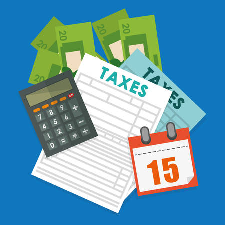 account form: Pay taxes graphic design theme,