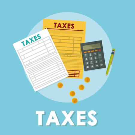 Pay taxes graphic design theme,