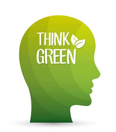 environmental contamination: Go green and ecology theme design, vector illustration graphic
