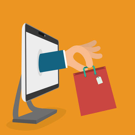 ecommerce icons: Digital marketing and ecommerce graphic design, vector illustration eps10