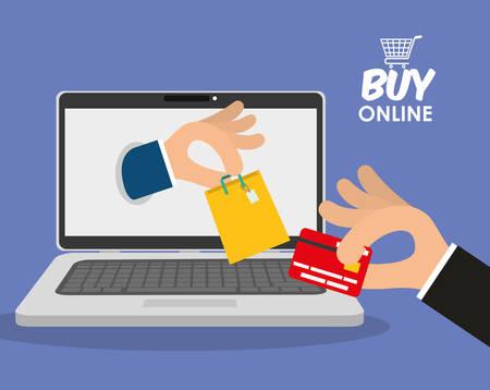 online business: Digital marketing and ecommerce graphic design, vector illustration eps10