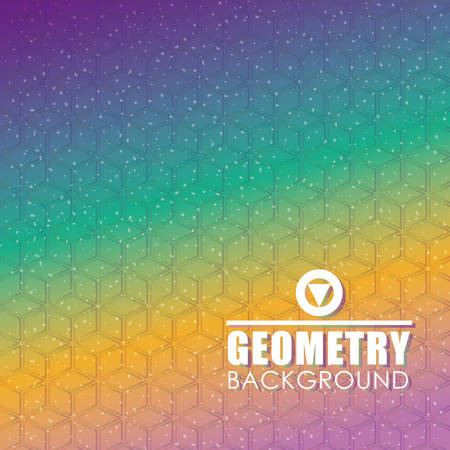 30s: Geometry wallpaper or background, vector