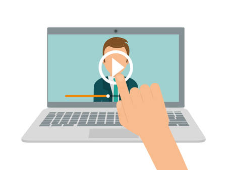 elearning: Online education and eLearning graphic design, Illustration