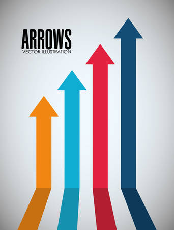 sucess: Arrows icons design, vector illustration