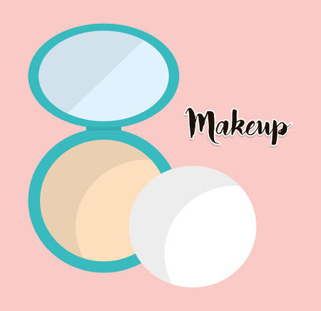 mirrow: Womens make up and cosmetics graphic design, Illustration