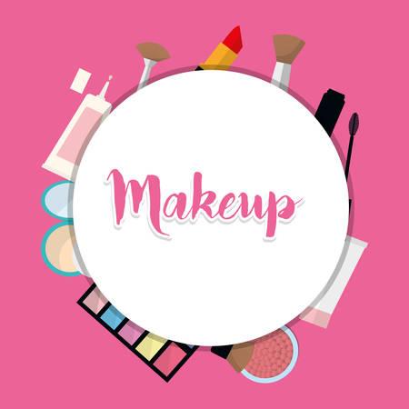 Femmes maquillage et cosmétiques de conception graphique,