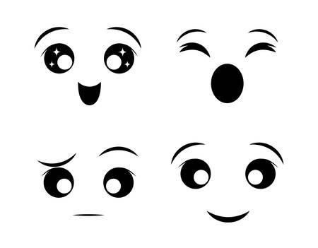 Grappige cartoon gezicht grafisch ontwerp,
